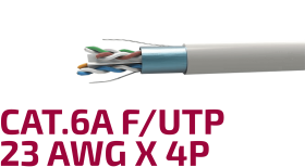 Shielded Data Cable Cat.6A F/UTP 23 AWG x 4P