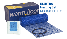 Underfloor Heating Set - MD-100 Mat + ELR 20 Controller