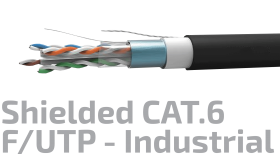 Shielded Industrial Data Cable Cat.6 F/UTP 23AWG x4P
