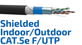 CAT.5e F/UTP Shielded Indoor/Outdoor Data Cable