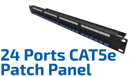 Multilan 24 Ports CAT.5e Patch Panel