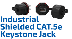 CAT.5e Shielded Industrial Keystone Jack