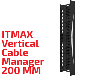 ITMAX Vertical Cable Manager 200 MM