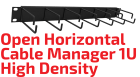 Open Horizontal Cable Manager 1U High Density