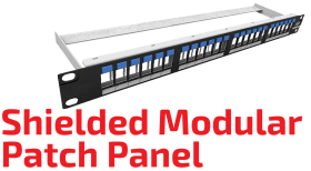 Shielded Modular Patch Panel with Icons