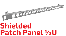 ½U Shielded Patch Panel