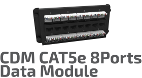 CAT.5e CDM Data Module - 8 Ports
