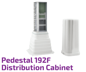 Connectorized Optical Distribution cabinet - Pedestal 192F