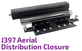 J397 Aerial Optic Distribution Closure