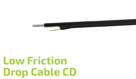 Low Friction Drop Fiber Optic Flat Cable (CD)