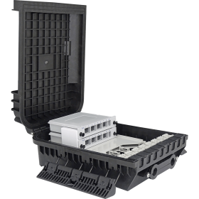 1 Tray | 24 Fibers | 16 LGX | Outdoor Termination Box | 305216