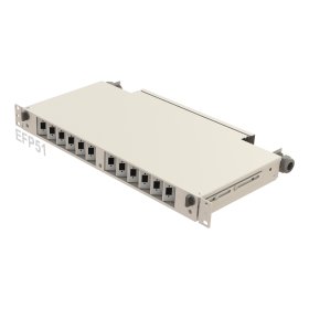 1U Telescopic Rail / Angled Fiber Patch Panel | 12 Holes | EFP51