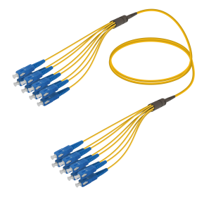 SC-SC | Single Mod - 8 Fiber - Fanout Patch Cord | 3.0/1.8mm