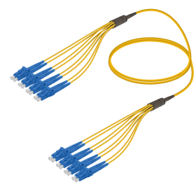 LC-LC | Single Mod - 8 Fiber - Fanout Patch Cord | 3.0/1.8mm