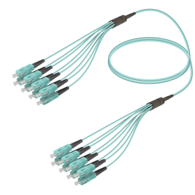 SC-SC | Multi Mod - 8 Fiber - Fanout Patch Cord | 3.0/1.8mm