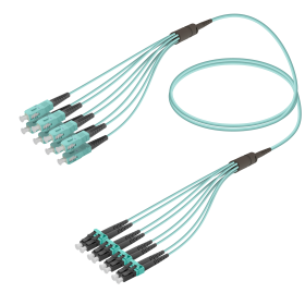 SC-LC | Multi Mod - 8 Fiber - Fanout Patch Cord | 3.0/1.8mm