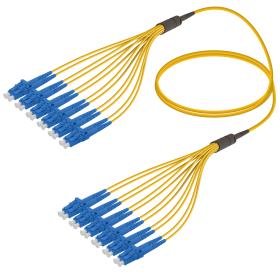 LC-LC | Single Mod - 12 Fiber - Fanout Patch Cord | 3.0/1.8mm