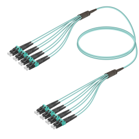 LC-LC | Multi Mod - 8 Fiber - Fanout Patch Cord | 3.0/1.8mm