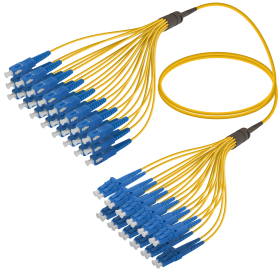 SC-LC | Single Mod - 24 Fiber - Fanout Patch Cord | 3.0/1.8mm