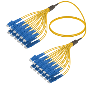LC-LC | Single Mod - 24 Fiber - Fanout Patch Cord | 3.0/1.8mm