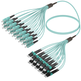 SC-LC | Multi Mod - 24 Fiber - Fanout Patch Cord | 3.0/1.8mm