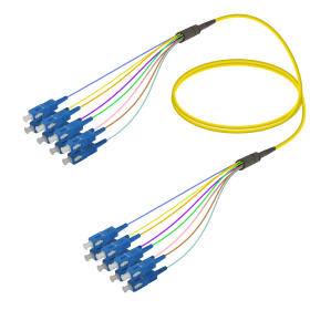 SC-SC | Single Mod - 8 Fiber - Fanout Patch Cord | 3.0/0.9mm