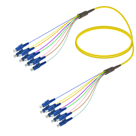 LC-LC | Single Mod - 8 Fiber - Fanout Patch Cord | 3.0/0.9mm