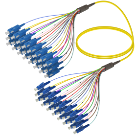 SC-LC | Single Mod - 24 Fiber - Fanout Patch Cord | 3.0/0.9mm