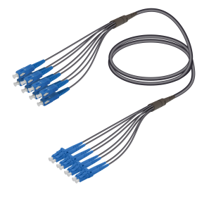 SC&LC | Single Mode - 8 Fiber - Universal Fanout | 4.8/1.8mm
