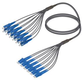 SC&LC | Single Mode - 12 Fiber - Universal Fanout | 4.8/1.8mm