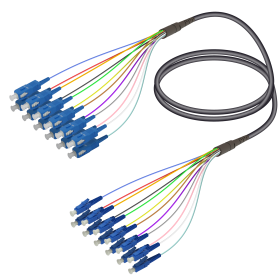 SC&LC | Single Mode - 12 Fiber - Universal Fanout | 4.8/0.9mm
