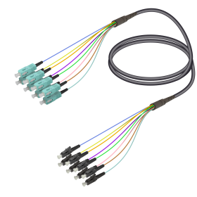 SC&LC | Multi Mode - 8 Fiber - Universal Fanout | 4.8/0.9mm